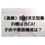 【画像】吉村洋文知事の嫁は元CA!子供や家族構成・生い立ちは?イケメンで高身長